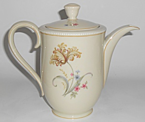 Tirschenreuth Porcelain China Floral Coffeepot W/gold T