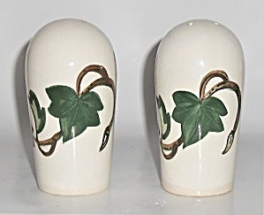 Metlox Pottery Poppy Trail California Ivy Oversize Salt