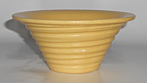 Early Haeger Pottery Yellow Wheel Thrown Art Bowl (Image1)