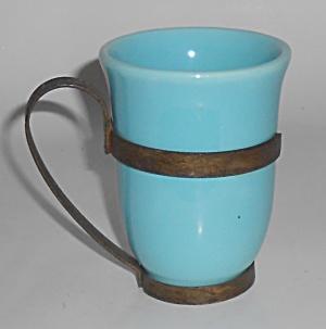 Franciscan Pottery El Patio Glacial Blue Tumbler w/Wrou (Image1)