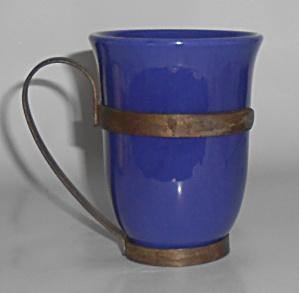Franciscan Pottery El Patio Cobalt Tumbler w/Wrought Ir (Image1)