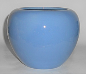 Bauer Pottery Fred Johnson Blue Rose Bowl