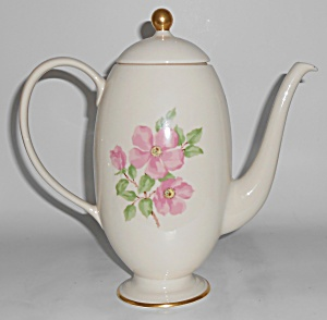 Franciscan Pottery China Cherokee Rose Coffeepot W/lid