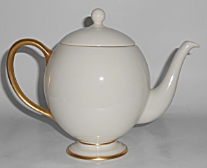 Franciscan Pottery Fine China Gold Band Teapot W/lid