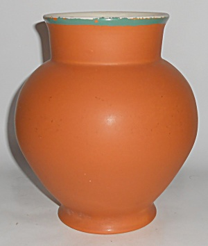 Coors Art Pottery Orange/white Brighton Vase