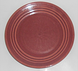 Bauer Pottery Ring Ware Early Burgundy Salad Plate