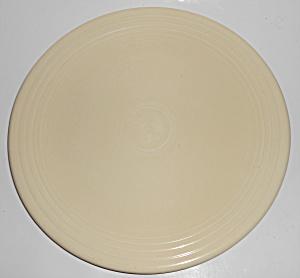 Vintage Fiesta Pottery Ivory Chop Plate #5 (Image1)