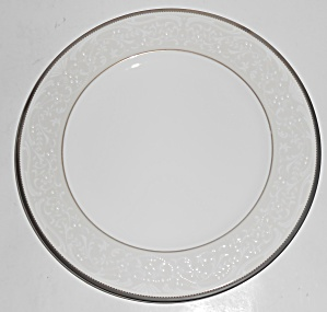 Noritake Porcelain China Silver Palace W/platinum Salad