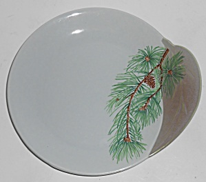 Canonsburg China Willard George Pine Bread Plate