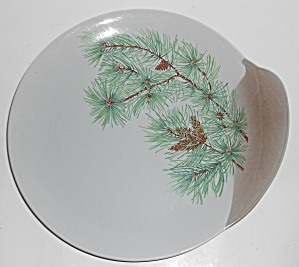 Canonsburg China Willard George Pine Dinner Plate