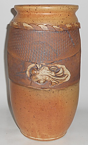 Early Bruning Studio Pottery Seattle 12-1/4in Vase