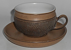 Denby Pottery Stoneware Cotswold Cup & Saucer Set