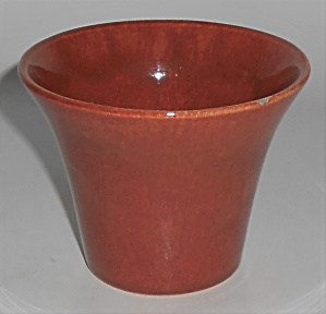 Bauer Pottery 3'' Red/brown Spanish Flower Pot