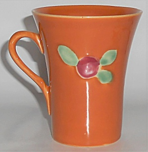 Coors Pottery Rosebud Very Rare Orange Handled Tumbler