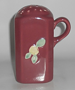 Coors Pottery Rosebud Red Sugar Shaker