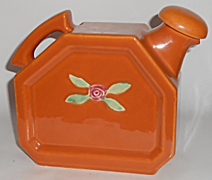 Coors Pottery Rosebud Orange Water Server W/cap