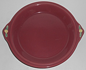 Coors Pottery Rosebud Red Pie Plate