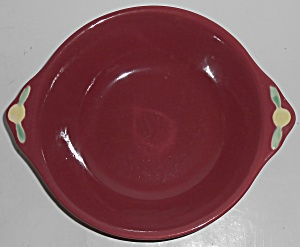 Coors Pottery Rosebud Red Vegetable Bowl