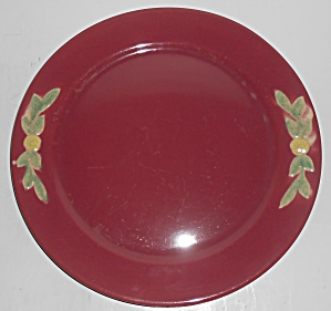 Coors Pottery Rosebud Early Red 10'' Plate