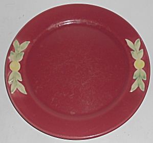 Coors Pottery Rosebud Early Red 9in Plate #1
