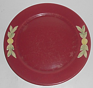 Coors Pottery Rosebud Early Red 9in Plate #2