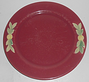 Coors Pottery Rosebud Early Red 9in Plate #3