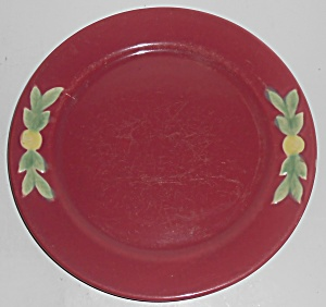 Coors Pottery Rosebud Early Red 9in Plate #4