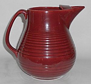 Bauer Pottery Monterey Burgundy Ice Lip Pitcher