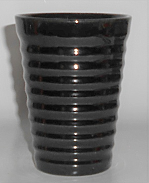 Bauer Pottery Ring Ware 12 Oz Black Tumbler