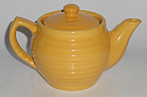 Bauer Pottery Ring Ware Yellow Individual Teapot