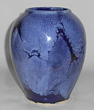 Brush Mccoy Art Pottery Blue Onyx #050 Vase #2