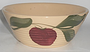 Vintage Watt Pottery Apple #600 Ribbed Baker