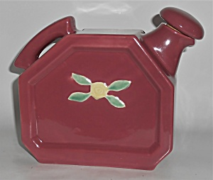 Coors Pottery Rosebud Red Water Server W/cap