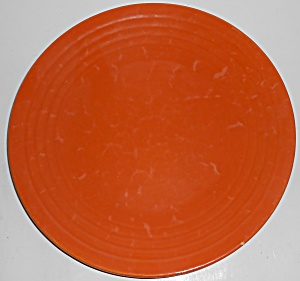 Bauer Pottery Ring Ware 1st Period Orange 11'' Dinner