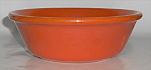 Bauer Pottery Plain Ware Orange #3 Pudding Bowl