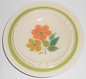 Franciscan Pottery U.s.a. Large Floral Ashtray