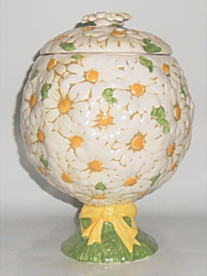 Metlox Pottery Poppy Trail Sculptured Daisy Cookie Jar