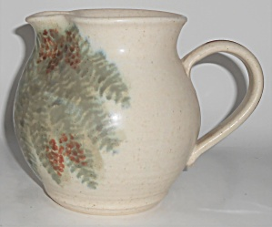 Bennett Welsh Studio Pottery Handmade Fern Decorated Pi