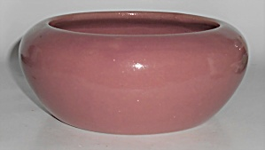 Bauer Pottery Dusty Rose Bulb Bowl