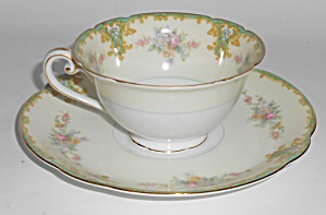 Noritake Porcelain China Rosamund Cup & Saucer Set