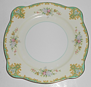 Noritake Porcelain China Rosamund W/gold Square Salad P