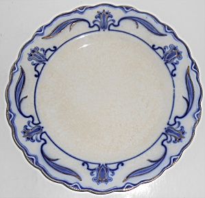 W.h. Grindley Flow Blue China Lotus Dinner Plate #5