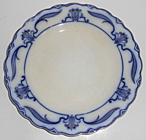W.h. Grindley Flow Blue China Lotus Dinner Plate #6