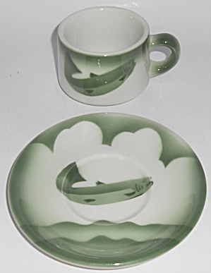 Jackson China Restaurant Green Airbrushed Salmon Cup &