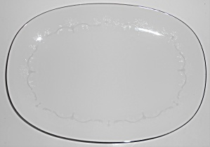 Noritake Porcelain China Whitebrook 6441 Platinum 15''