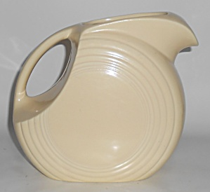 Vintage Fiesta Pottery Ivory Disc Large Water Pitcher