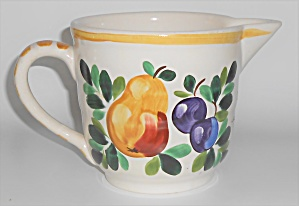 Bauer Pottery Fruit Decorated Motto Beater Bowl