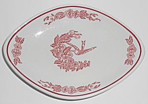 Jackson China Restaurant Ware Red Hummingbird Large Com