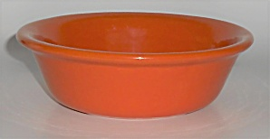 Bauer Pottery Plain Ware Orange #2 Pudding Dish