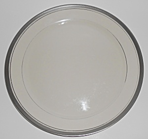 Pickard Porcelain China Geneva Platinum Dinner Plate